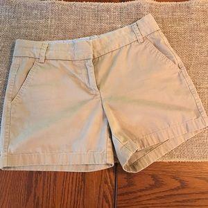 J. Crew Chino Khaki Shorts Size 6